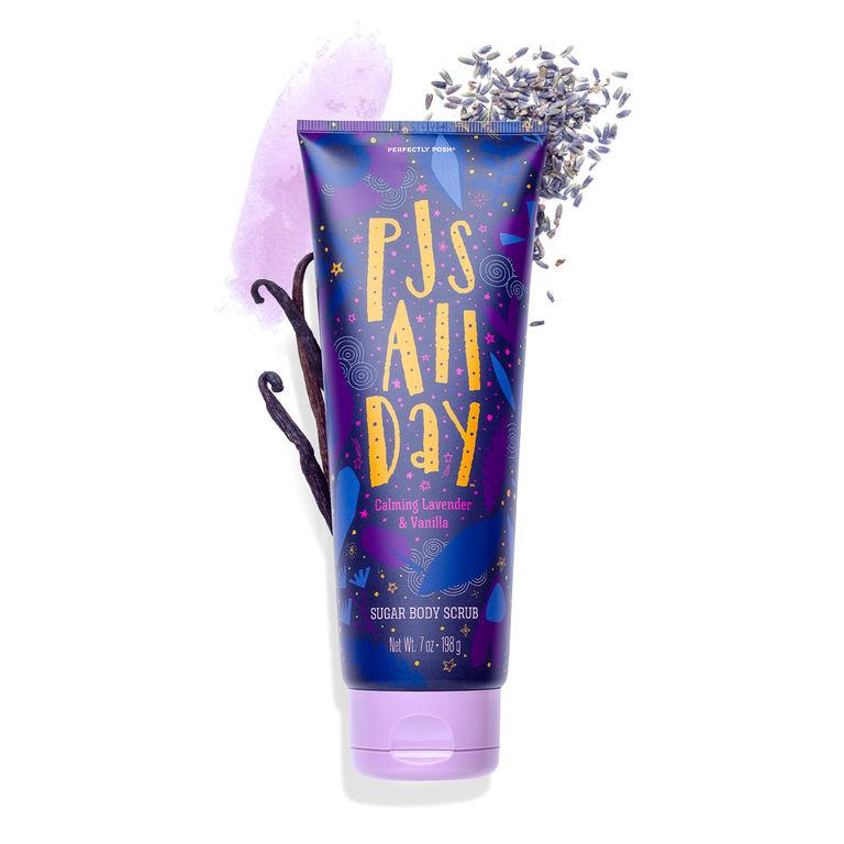 Perfectly Posh PJs All Day Sugar Body Scrub, lavender body scrub, gentle body scrub, everyday body scrub, naturally based body scrub