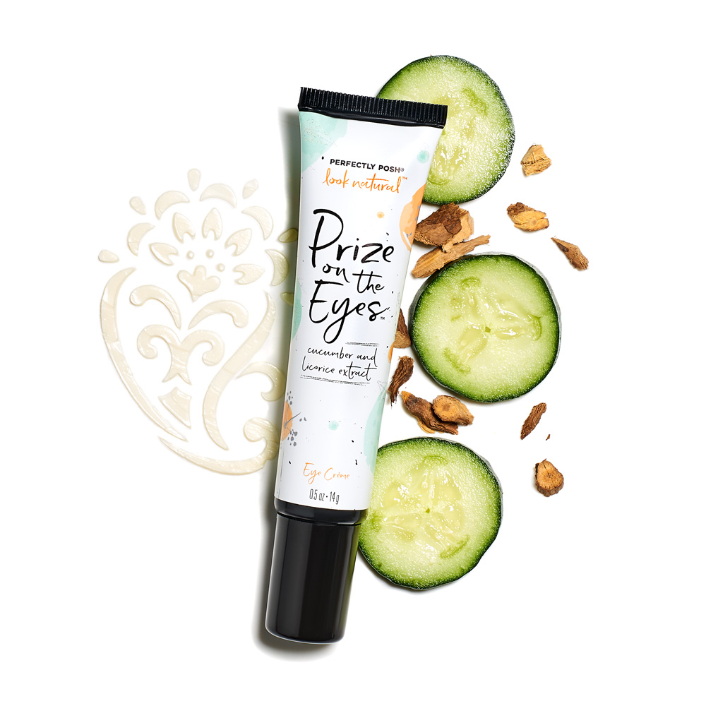 Perfectly Posh Prize on the Eyes Eye Creme with cucumber and licorice extract.