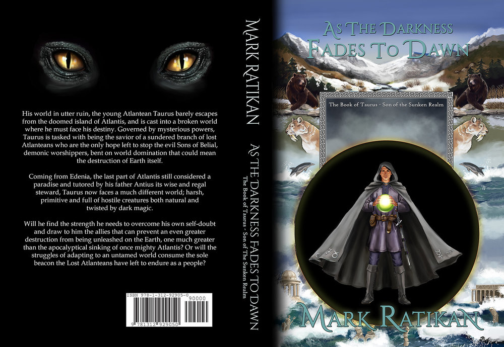 As Darkness Fades to Dawn by Mark Ratikan   Cover design and back cover details