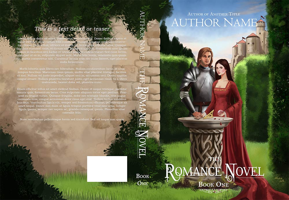 Fantasy Romance cover art with design layout