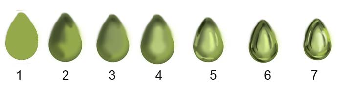 Green Drop shaped gemstone
