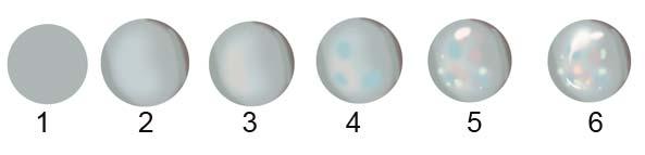 Round opal