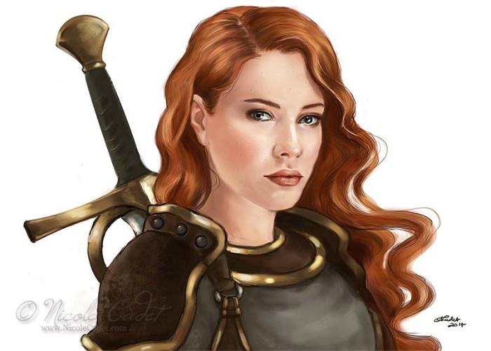 Vika - a paladin character/ holy warrior