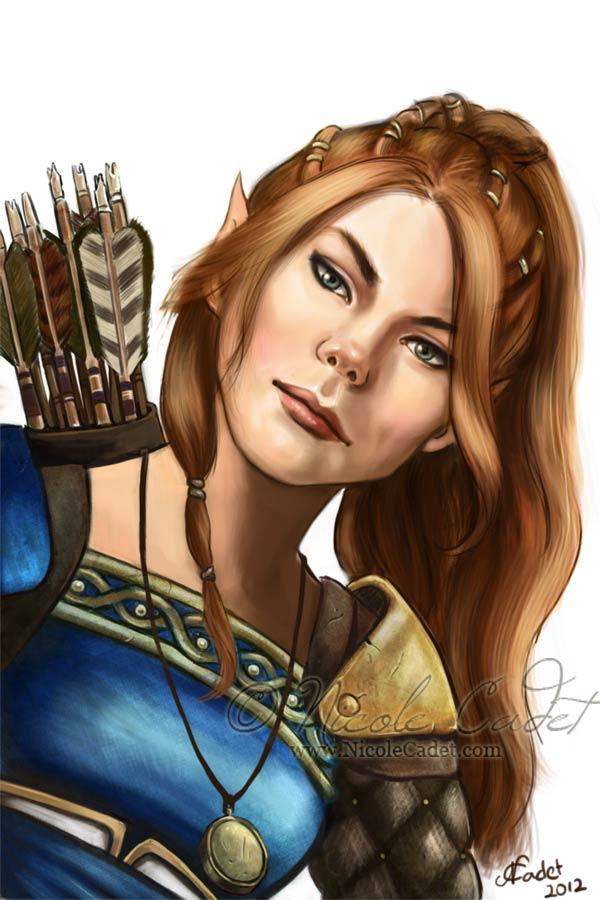 Foxglove - a half elf ranger character