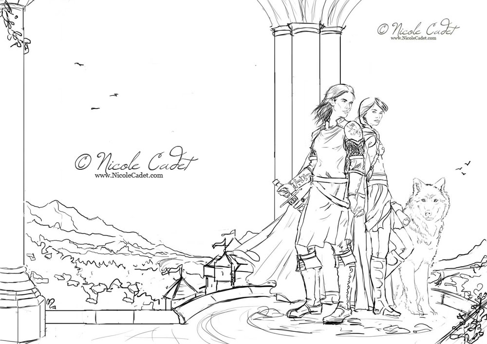 The final sketch for Love's Call