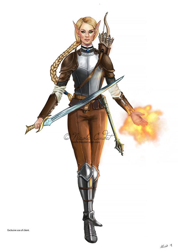 pathfinder elf magus commission nicole cadet fantasy art