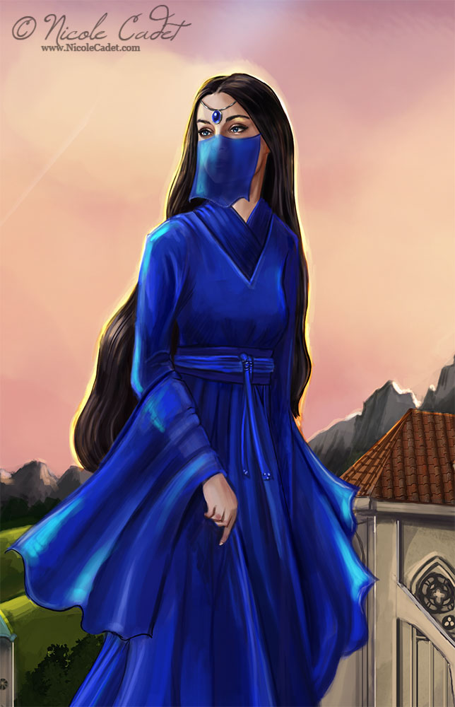 Detail of Sapphire, the protagonist