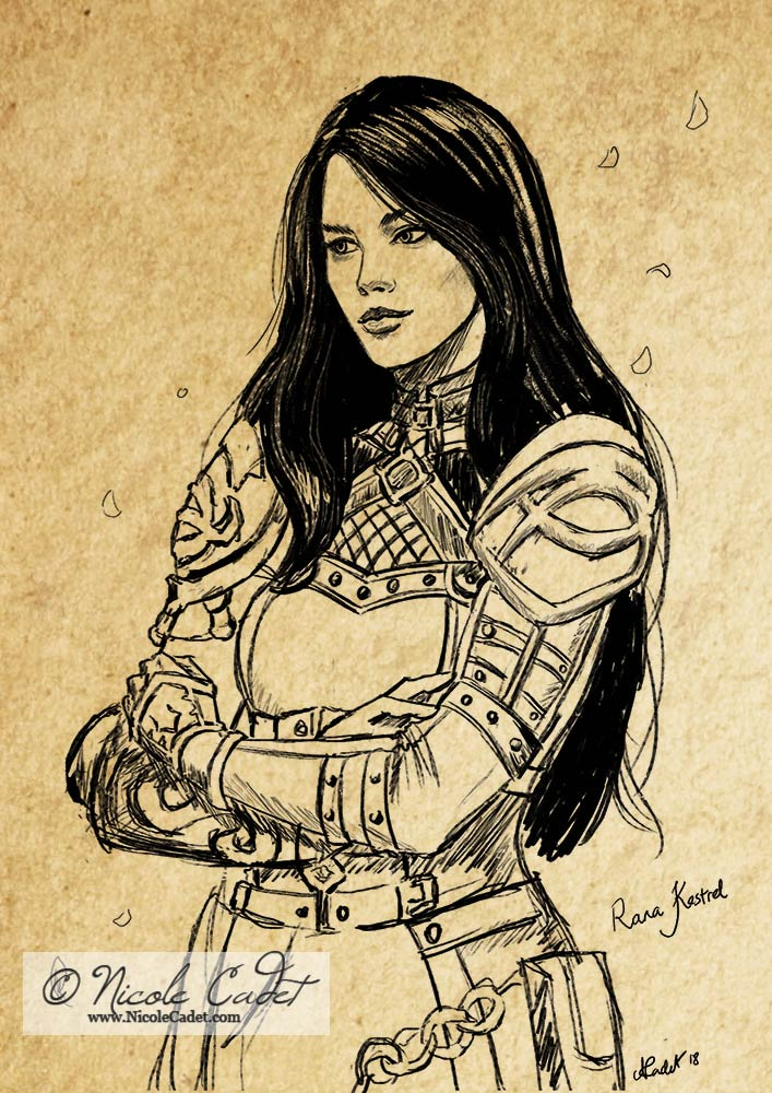 My in game character Rana Kestrel - this was a stretch goal