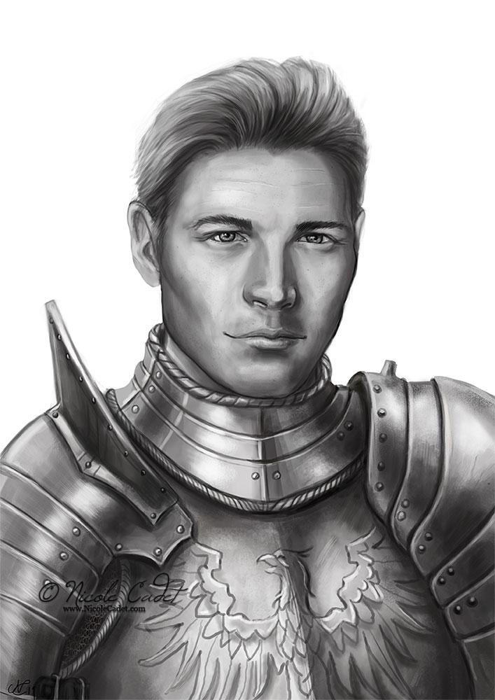 Klaus DnD Knight portrait