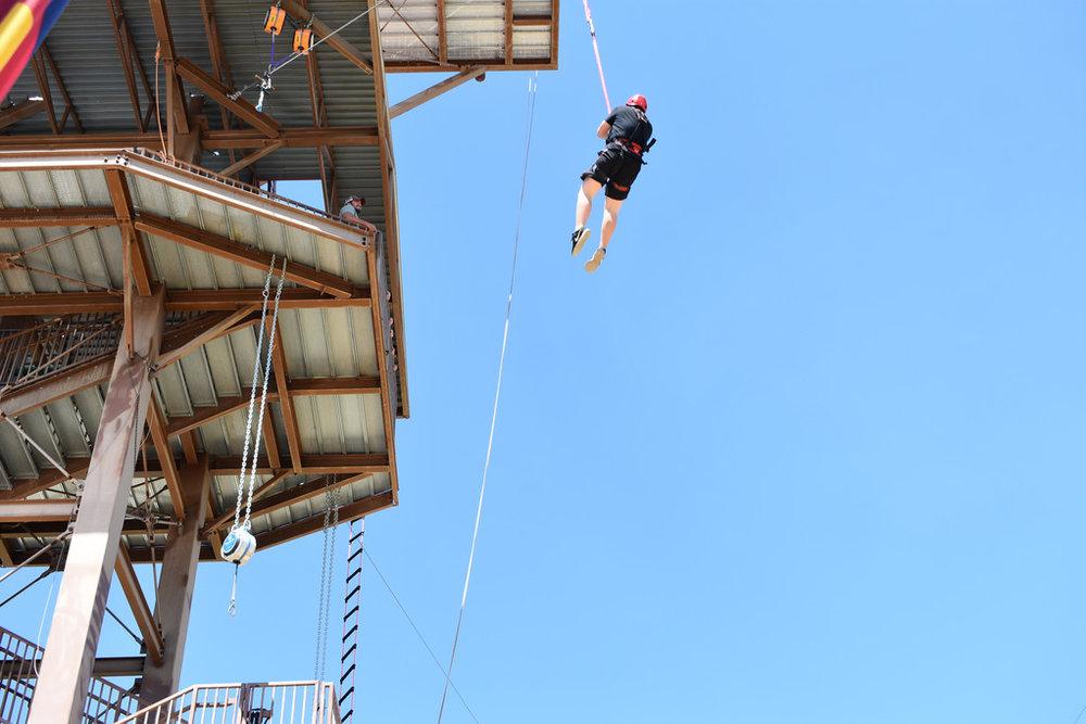Zane jumping off 75 foot platform