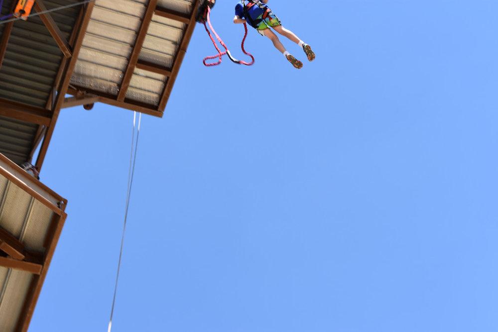 Todd jumping off 75 foot platform