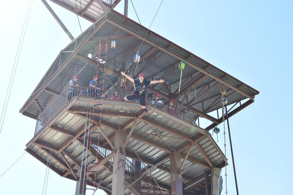 Zane doing his superman jump at 45 feet