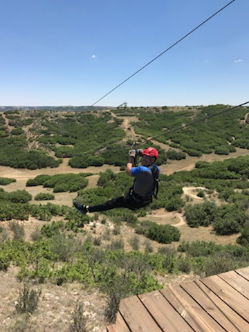 Jerry ziplining