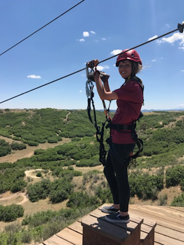 Jane ziplining