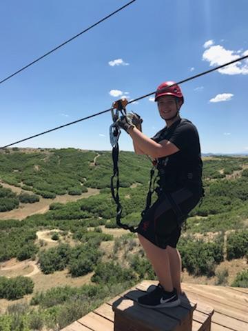 Zane ziplining