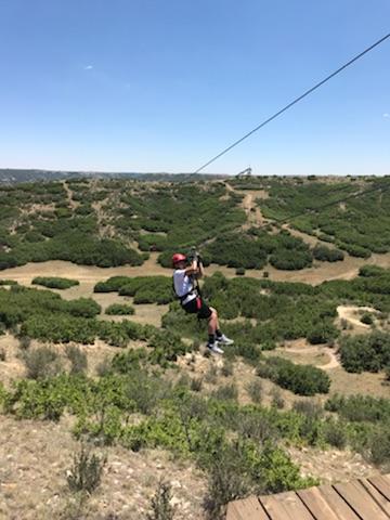 Gavin ziplining