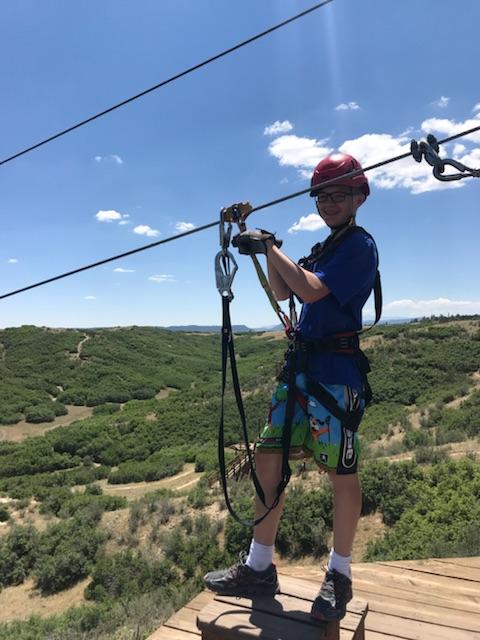 Todd ziplining