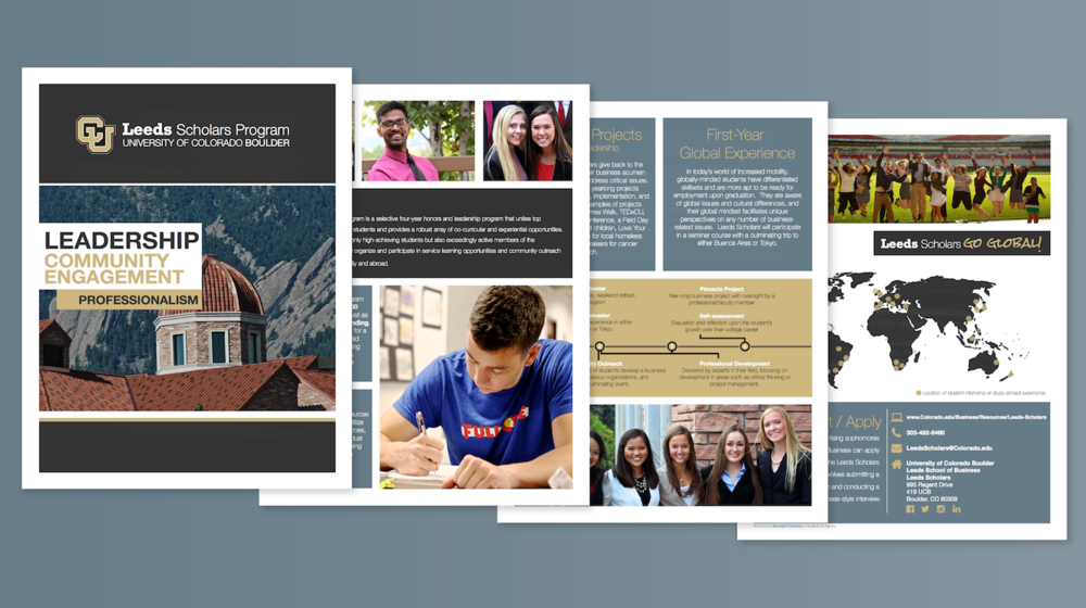 Leeds Scholars Print Brochure Design, 2016