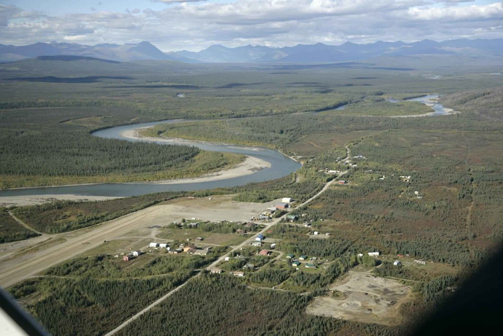 The village of Bettles, AK is located 35 miles north of the Arctic Circle along the Koyukuk River.  The population as of 2010 was 10.  It's location and airstrip make it the ideal gateway community to some of Alaska's most pristine wilderness areas.