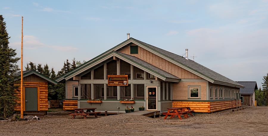 Bettles Ranger Station which serves as the visitors center for Gates of the Arctic National Park.