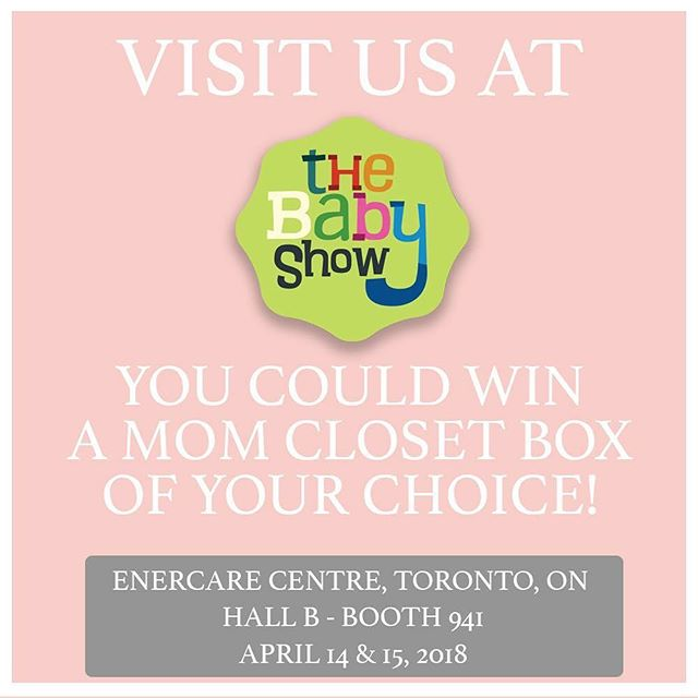 Hey Mamas & Mamas to be! Do we have a giveaway for you! Come visit us at @thebabyshows this weekend and you could be entered to win the Mom Closet box of your choice! We're in booth 941!  #babyshowTO #MomCloset #NewMom #NursingMama #Playdate #DateNight #BackToWork #MomsNightOut #AfterBedtime #JustJeans #ShopLocal  Some restrictions apply.