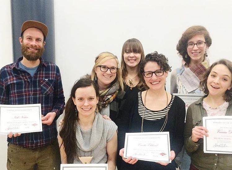 Cohort #2  Pictured:  Nick Nortier ,  Elyse Welcher ,  Alyssa Fergusson ,  Emilie Eklund ,  Megan Shay , and Vanessa Autumn