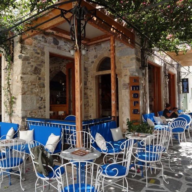 Your Hummus is going to be so Greek you'll think you're eating it in a little cafe like this one on Kos Island.
