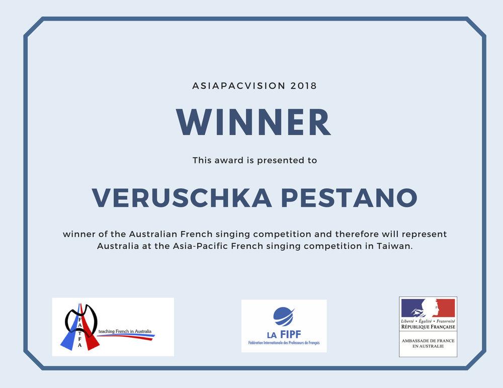Veruschka Pestano Award.jpg
