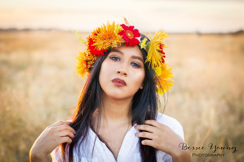 Woodward Park Fresno Boho Senior Portraits - Bessie Young Photography