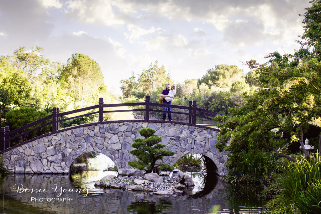 Shinzen Japanese Gardens Fresno Engagement Photos