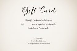 Bessie Young Photography Gift Cards - Display 1