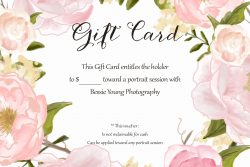 Bessie Young Photography Gift Cards - Display 3