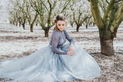 Tulle Wedding Dress Idea by Bessie Young Photography