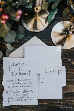 Wedding Suite Calligraphy Idea - Bessie Young Photography