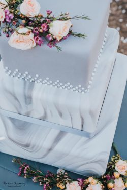 Grey Wedding Cake Idea - Bessie Young Photography