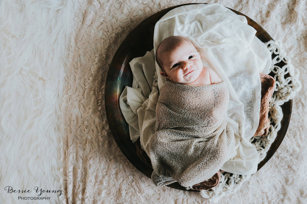 Sonora Newborn Portraits - Fall Newborn Portraits photographed by Bessie Young Photography - Newborn Photography girl