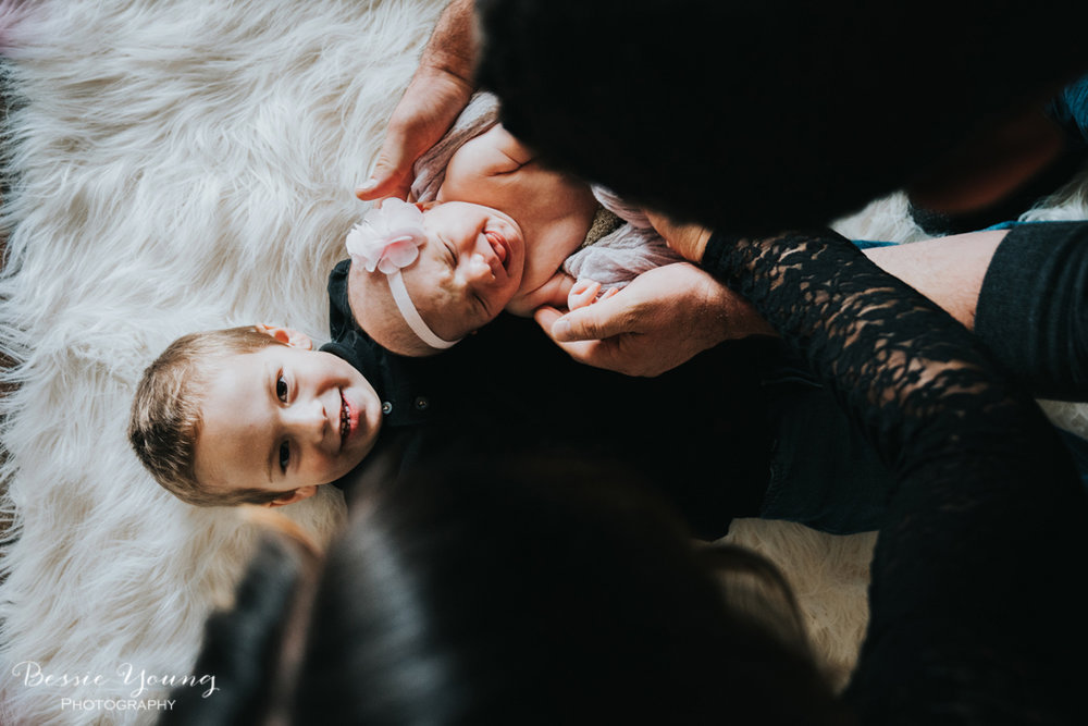 Indoor Newborn Portraits photographed by Bessie Young Photography - Lifestyle newborn inspiration
