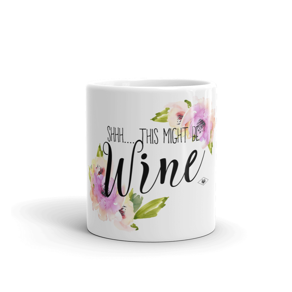 Shhh... this might be wine Coffee Mug Made in the USA by Bessie Young the byp shop.png