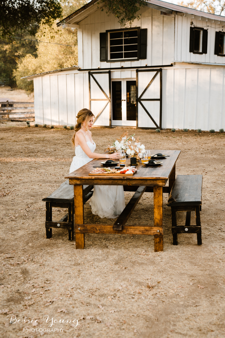 Mettle and Wood Furniture Company Farmhouse Wedding Table by Bessie Young Photography