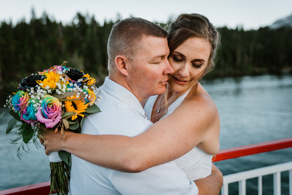 South Lake Tahoe Elopement | Yosemite Elopement Photographer - Lora + Scott