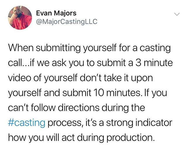 A message to talent... #casting #tv #majorcasting #realitytv
