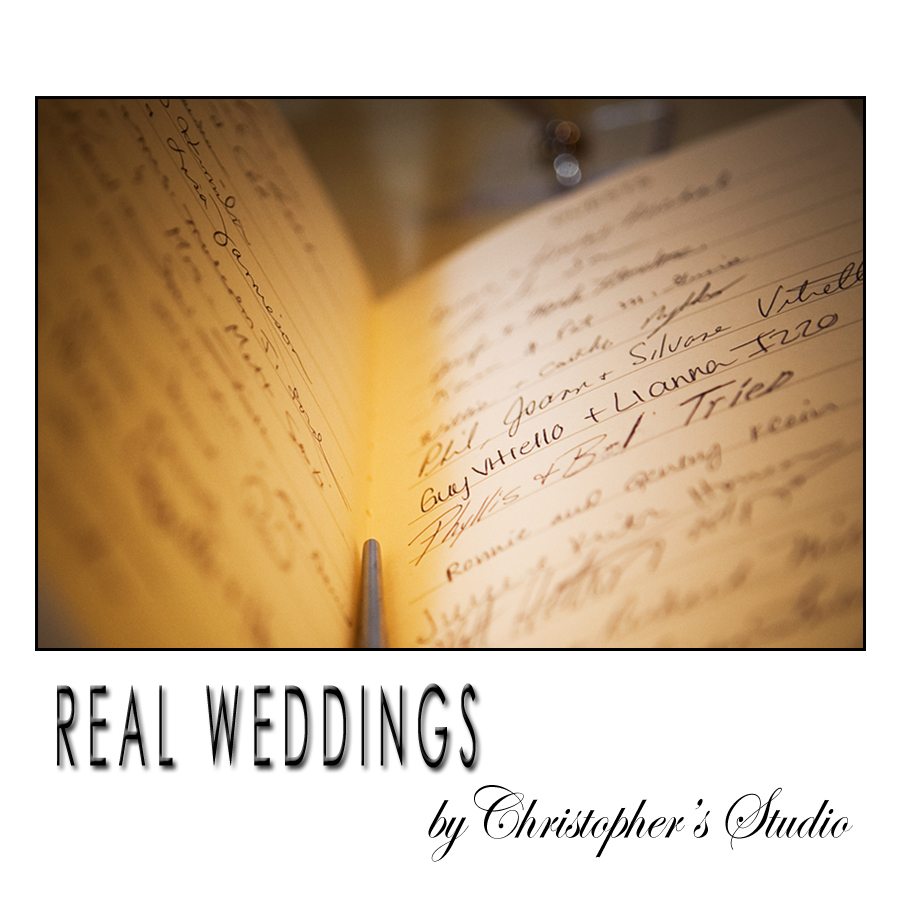 Sign-in book for wedding day.