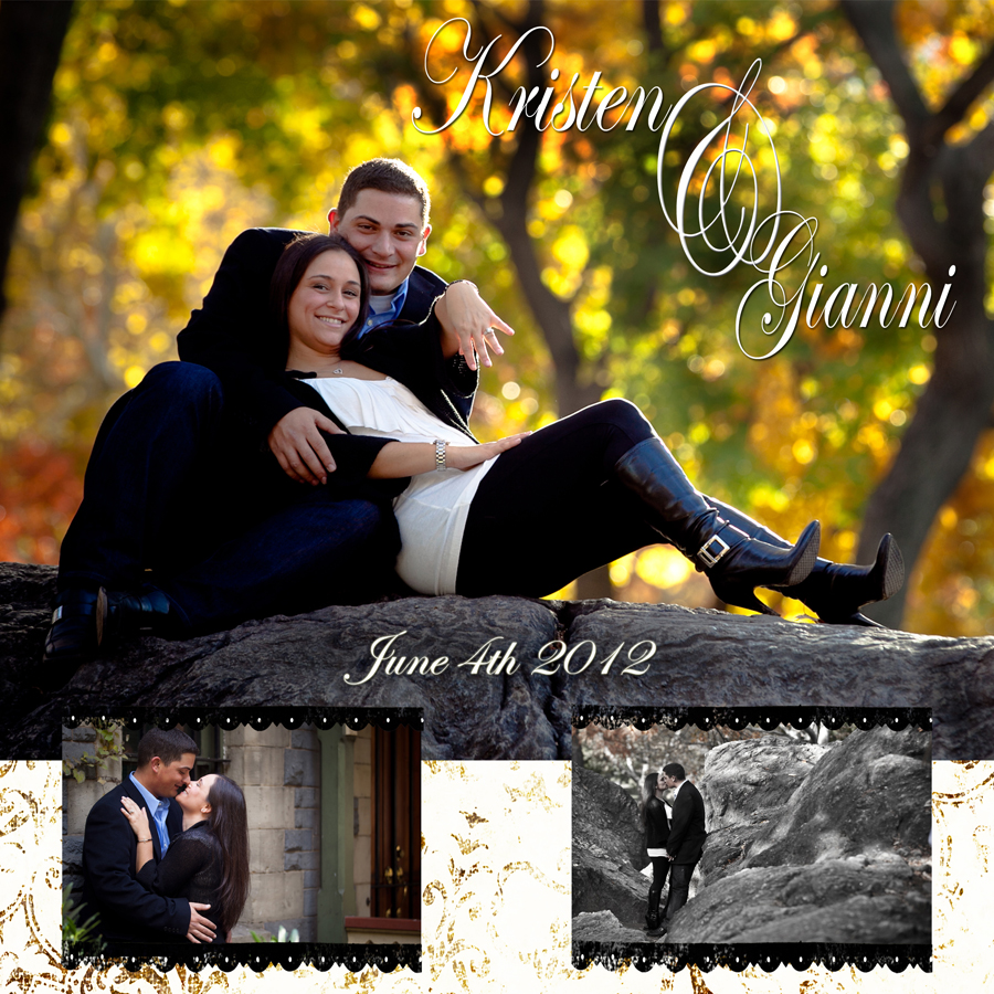 8x8 Save the Date card printed on velvet fine art paper