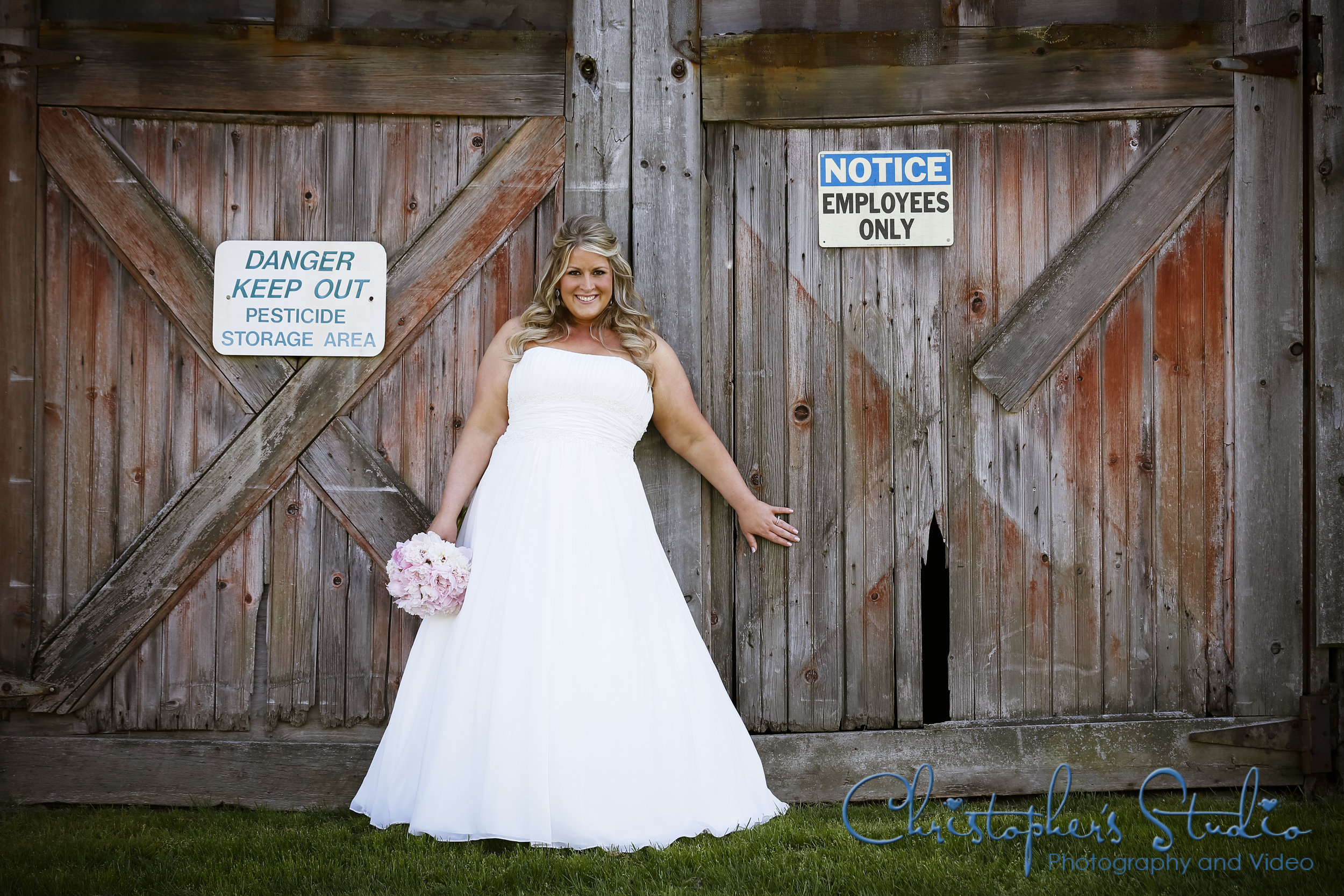 Bride and Barn Door