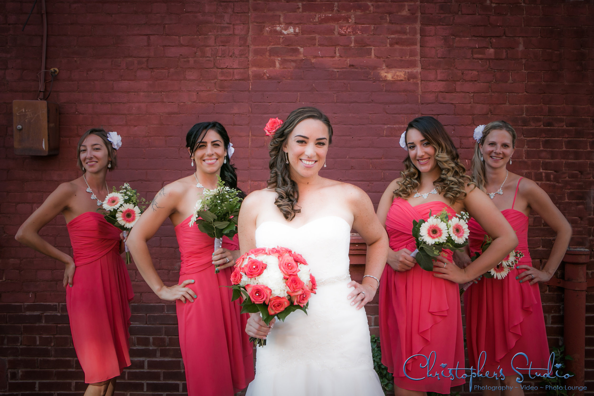 Bride with Brick Wall