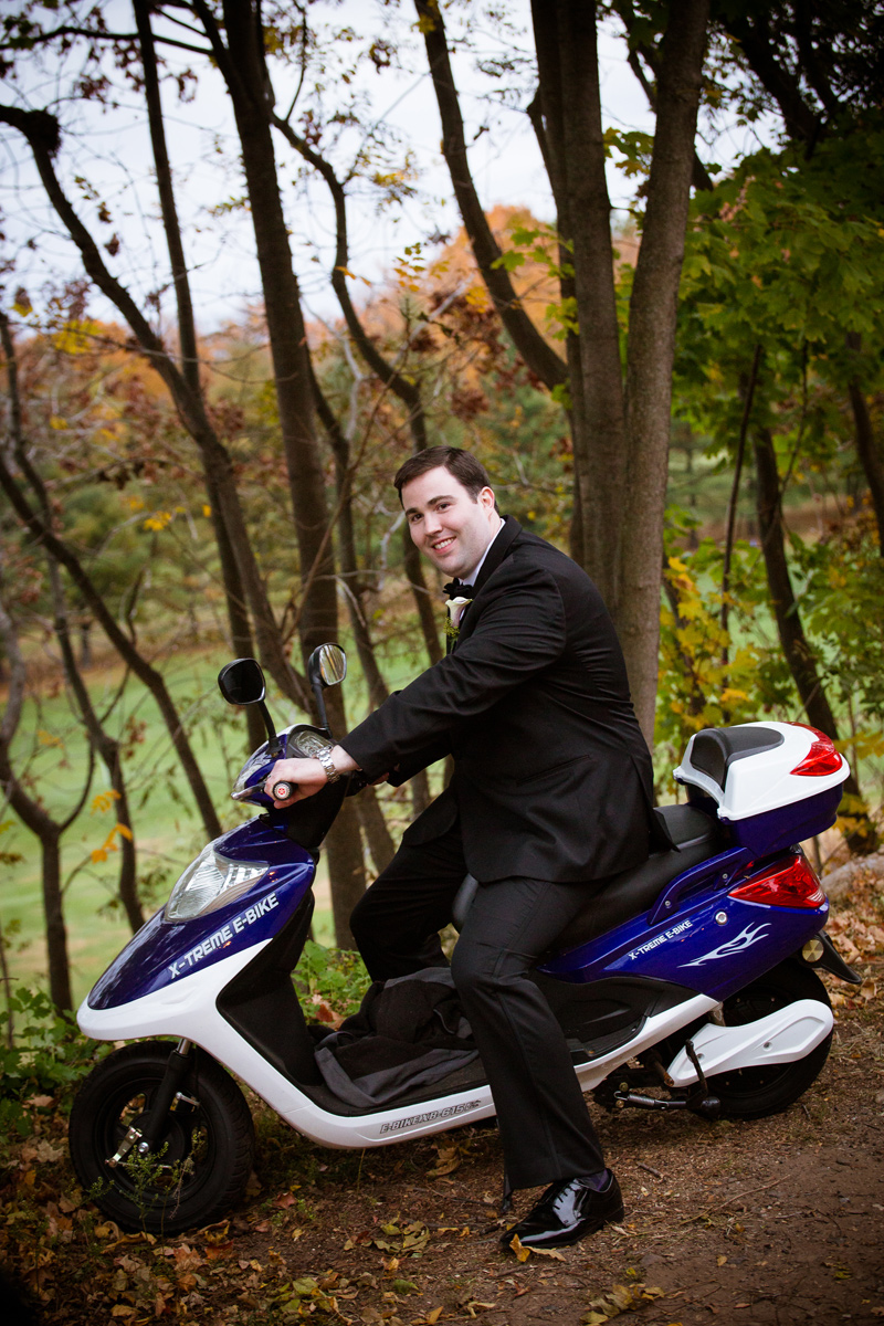 Groom-on-Moped