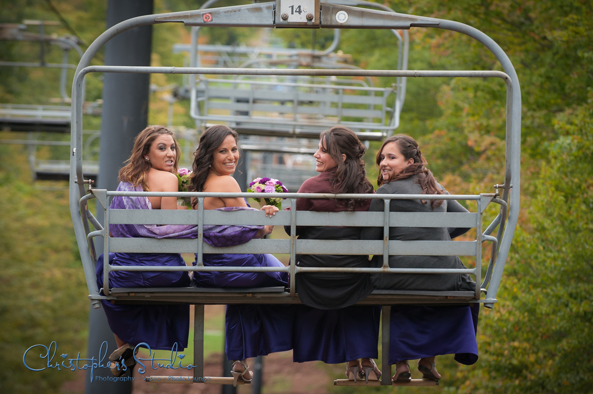 Bridal Party at Wyndham Mountain