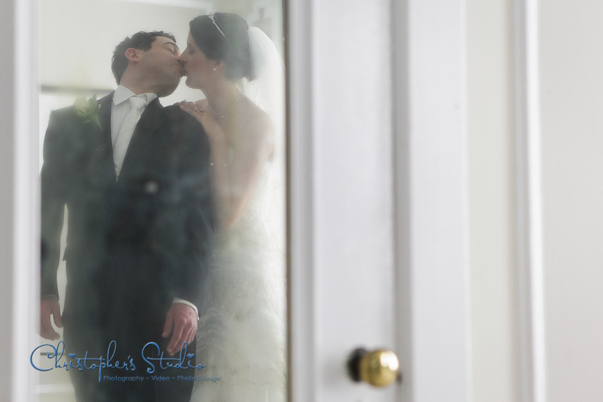 First Look and Kiss Wedding Photo