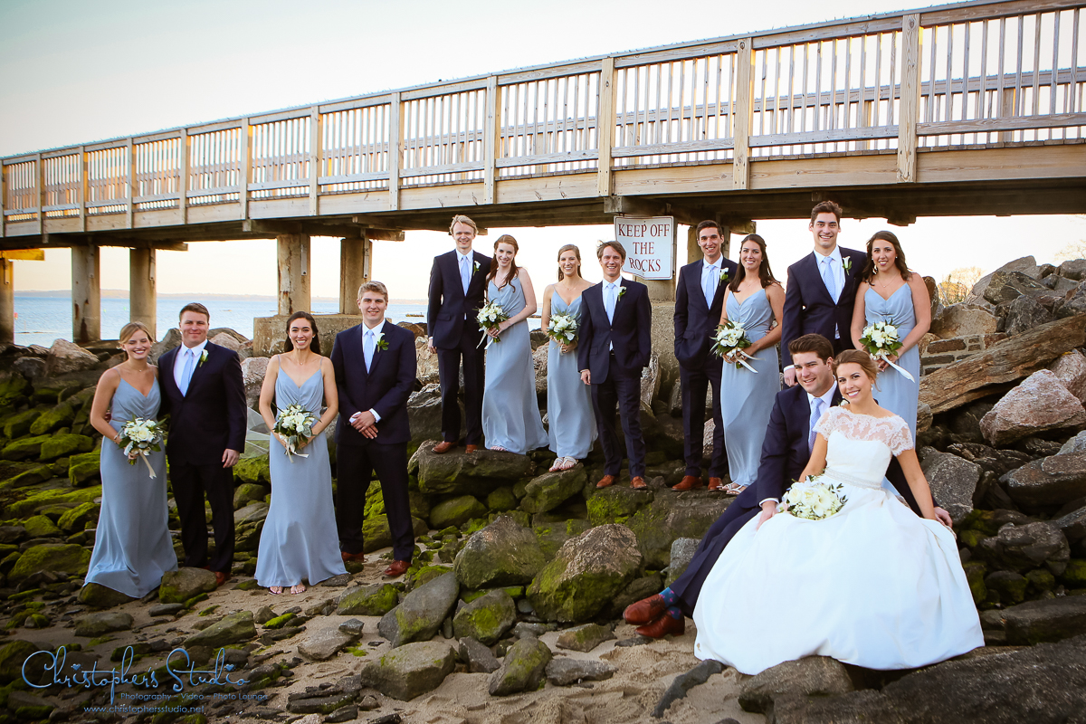 Bridal Party Photography at Coveliegh Club Rye NY