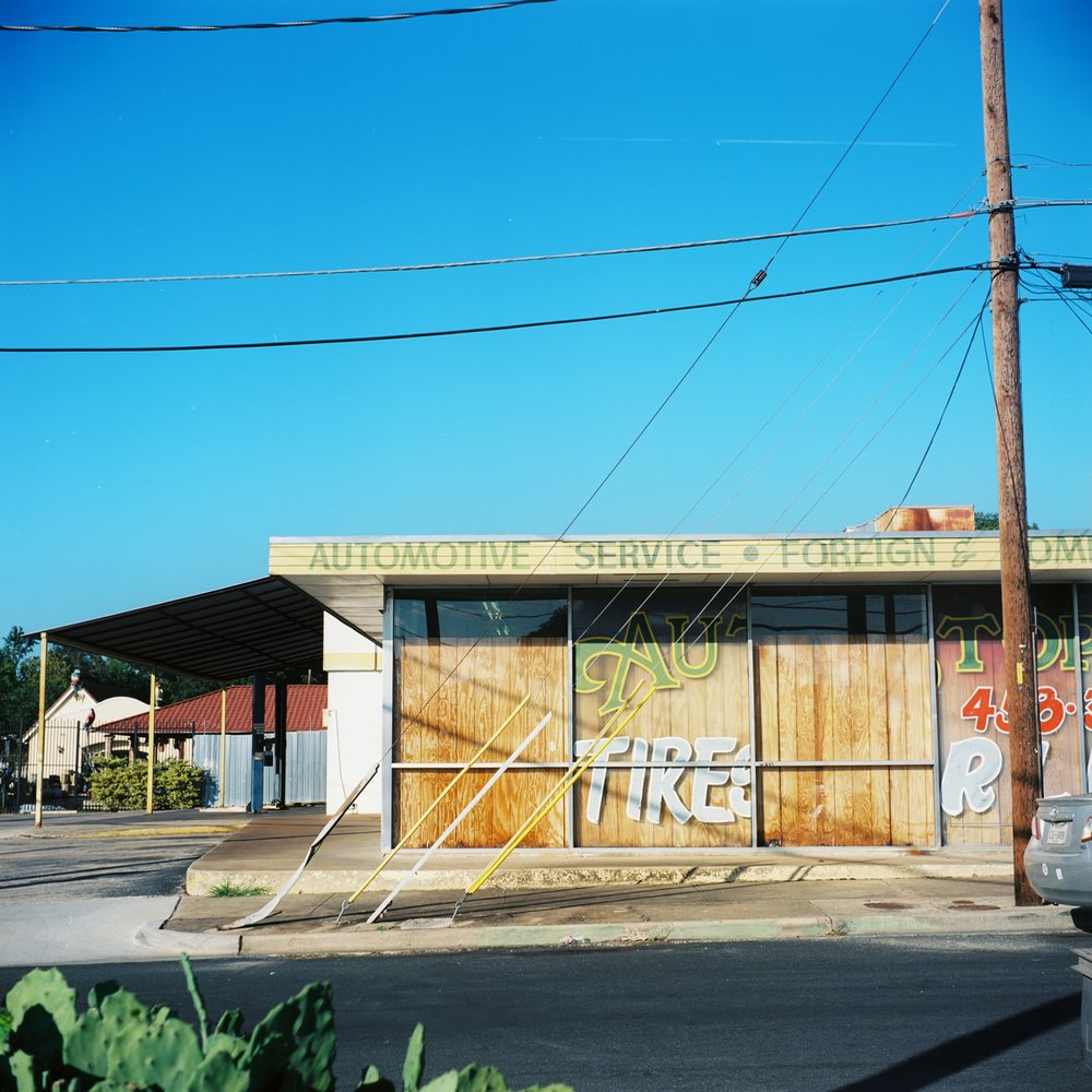 A tire shop around the block
